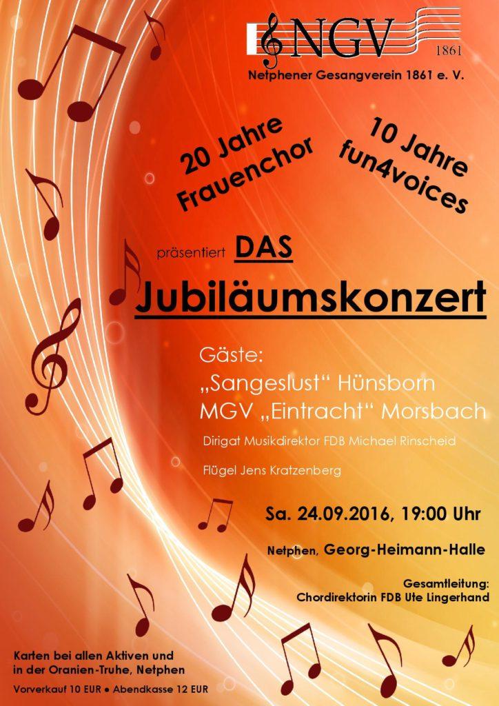 Plakat Jubiläumskonzert Olaf
